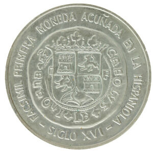 Dominican Republic - Silver 10 Pesos Coin - 'Bankers' Congress' - 1975 - UNC