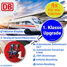 4x Deutsche Bahn DB 1. Klasse Upgrade Gutschein ECOUPON 24/7 VERSAND Sitzplatz