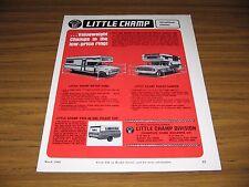1969 Print Ad Little Champ Motor Homes,Pickup Campers Lemoncove,CA