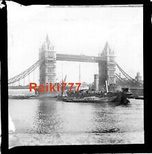 More details for old vintage glass negative slide tower bridge london boats ships river thames