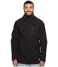 PUMA Evo Tech Parka Zip Front Hooded Jacket Windbreaker Coat Black XXL $195