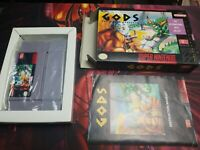 [CIB COMPLETE] GODS The Bitmap Brothers SNES 1991 Nintendo