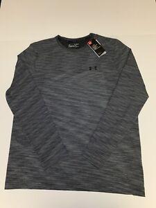 Under Armour Vanish Mens Training Top Grey Long Sleeve Seamless Sports Jersey XL