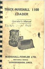 Track Marshall 1100 Crawler Tractor Loader Operators Manual - TM1100