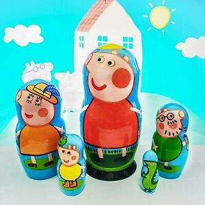 Peppa pig nesting dolls, Peppa stacking dolls for babies, Peppa pig toys, Peppa
