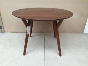 West Elm Mid-Century Walnut Round Dining Table RRP £495.00