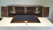 Campaign style table or desk top secretaire antique portable bureau writing desk
