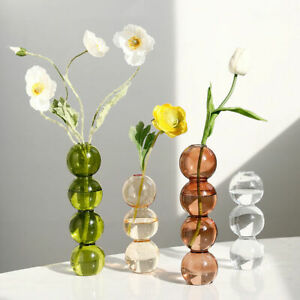 Home Decor Glass Vase Room Decor Crystal Vase Modern Hydroponic Plants European