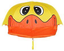 "New 38"" Arc Children Kid Pop-Up Yellow Duck Umbrella - RainStoppers  Rain/Shine"