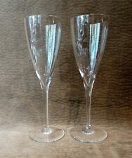 "BACCARAT FRANCE CHAMPAGNE FLUTE PAIR - EACH 9"" TALL - DOM PERIGNON"