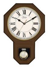 Acctim Woodstock Pendulum Wall Clock Dark Wood 28316 Roman Numerals
