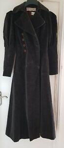 Vintage Yves Saint Laurent Rive Gauche Paris brown velour coat dress size 8 /40