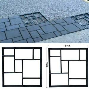 Durable Garden Paving Pavement Mold Patio Concrete Stone Path Walk Maker Mould