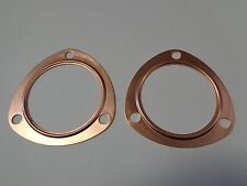 "3"" Copper Header Exhaust Collector Gaskets Reusable SBC BBC 302 350 454 383 New!"