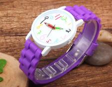 Geneva Women Ladies Soft Jelly Silicone Quartz Sports Girl Kids Wrist Watch New