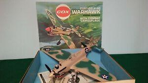 Cox Curtiss P40 Warhawk Combat Camo Model Airplane w/.049 Engine & Box