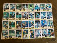 1983 SEATTLE MARINERS Topps COMPLETE Baseball Team Set 32 Cards PERRY HENDERSON!