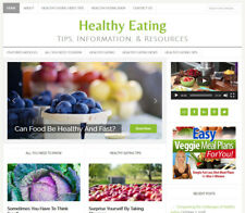 [NEW DESIGN] * HEALTHY EATING * affiliate website business for sale AUTO CONTENT
