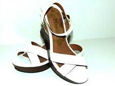 Mudd  Wedge Sandals Womens Size 7.5M  White 4 Inch  Wedge  NWOB