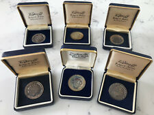 Set Of 6 Vintage Sterling Silver Golf Medals Chelmsford Golf Club Boxed