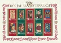 austria mint never hinged 1000 years austria stamps sheet ref r11479