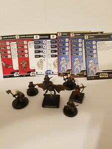 Star Wars Miniatures Ewok Hang Gilder & Warrior Fring Team Builder Lot