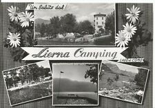 160736 LECCO LIERNA - CAMPING - SALUTI da.. LAGO DI COMO Cartolina FOT viag 1961
