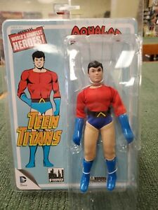 """Figures Toy Company Teen Titans Aqualad 8"""" fig NEW ON CARD Mego WGSH Reissue"""