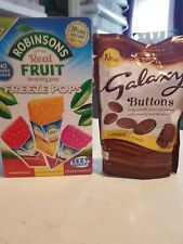 new box 5 pack freeze pops & 1 pack galaxy buttons (93g)
