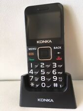 BIG BUTTON SENIORS PHONE 3G KONKA U6  WITH CRADLE, SOS, FALLS DETECTOR
