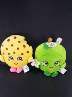"Shopkins Plush Apple Blossom And kooky Cookie Lot of 2 Moose Stuffed Toys 7"""