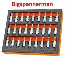 FRANKLIN XF027 27 PIECE 1/4in Drive Socket Bit Set Hex Torx Spline Screwdriver