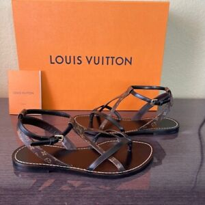 LOUIS VUITTON CITY BREAK SANDALS SIZE 6 - 6.5 Length 23.5 Centimeters