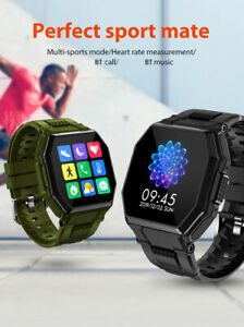 Smart Watch Men Military Style Outdoor Sports Heart Rate Fitness Tracker Call UK