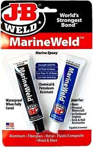 J-B Weld 8272 MarineWeld Marine Epoxy For Aluminum,Fiberglass,Metal Etc. - 2 oz.