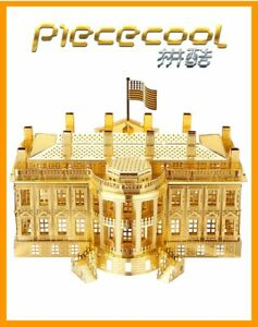 The White House - Gold 3D Metal Puzzle Model Kits Assemble Jigsaw Toys
