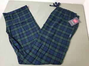 New Mens Hanes Drawstring Cotton Flannel Sleep Lounge Pants.  Retail 30.00