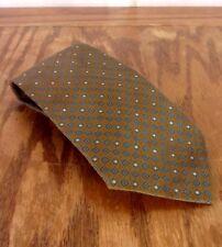 Vintage Années 60 Dore Brillant Bleu Géométrique Homme Coffret Motif Cravate