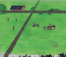 BEAVIS & BUTTHEAD Animation Art Original Production Cel Cell Anderson 90s BBQ