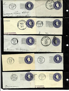 """""""Indiana 1935-1937"""" Town Date CDS Cancel 3 Cent Postal Stationary Corner  US A99"""