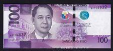 "Philippine ERROR 100 Pesos NGC ""MisCUT, Shifted UP""  SN# WA004932 UNC"
