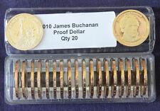2010 S President James Buchanan 20 Proof Presidential Dollars In Coin Keeper
