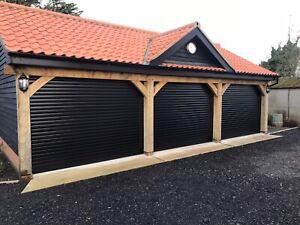 Black Electric Roller Garage Door, With Full Installation Video, 5 Year Warranty