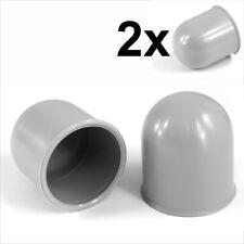 Barra de bola de remolque 2x 50 mm Gris Cubierta Tapa Remolque Coche Caravana Enganche de remolque towball x2