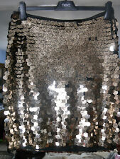 BNWT Next Gold Sequin Skirt/ Lined/ New with Defects/ Size UK 12