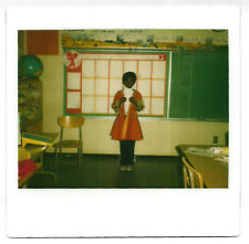 Vintage 80s Kodak Instant PHOTO Little Black Boy In Colonial Costume In Class
