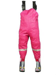 Kinderwathose Matschhose Anglerhose Fischerhose Wathose Kinder UVP: 399DK Pink