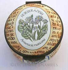 Crummles Enamels Horseradish Botanical Enamel Box