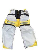Adult Medium Mission Roller Ice Hockey Pants Senior Yellow Black Gray Solid