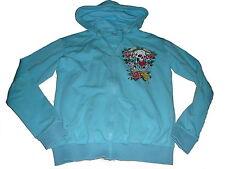 Tolle Sweat Jacke Gr. 158 hellblau mit coolen Motiven !!